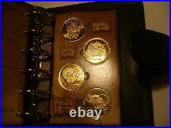 Harry Potter Gringotts Savings Book. In 24k gold 24 coins in book, stunning
