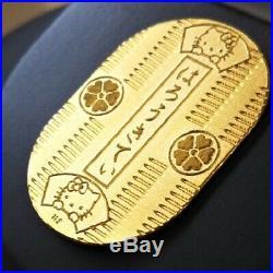 Hello Kitty 24k Koban Pure Gold Maneki Neko Cat Sanrio 10g Limited Coin Rare