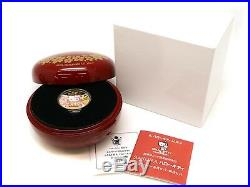 Hello Kitty 40th Anniversary 1/2 OZ K24 Coin Gold 15.5g USED F/S from JAPAN
