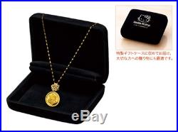 Hello Kitty and Amber Gold Coin Jewelry pure gold coin pendant