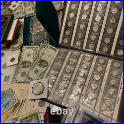 Huge Collection Estate Coin Lot Gold Silver Old Sets Bullion Morgan Dollars