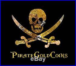 Hugh Hefner Personal Money Clip Playboy Solid Gold Pirate Gold Coins Memorabilia