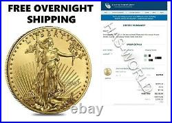 IN-HAND American Eagle 2021 One Ounce Gold Proof Coin 21EB 1oz RARE COLLECT