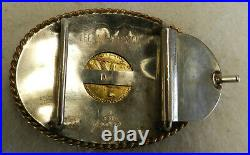 #J7 Sterling Silver Belt Buckle With 1926 $10 Ten Dollar Gold USA Coin