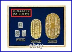 Japanese Edo Coin Tenpo Oval Gold Coin Toy Koban Tokugawa Samurai Old Toy New