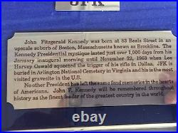 Jfk Commemorative Coin Set 1964 Gold Half Dollar With Ruby, Emeralds And Sapphir