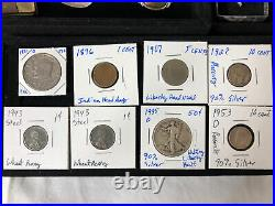 Junk Drawer Lot 1935 D Silver Walking Liberty Half Dollar Coins Gold Stamps