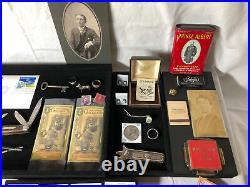Junk Drawer Lot 1941 D Silver Walking Liberty Half Dollar Coins Gold Knife Cards