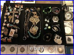 Junk Drawer Lot 2019 Silver American Eagle UNC Dollar Silver Coins Stamps Gold
