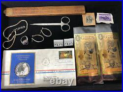 Junk Drawer Lot Silver Coins Gold Antiques Jewelry Walking Liberty Half Dollar