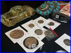 Junk Drawer Lot THALER Silver. 925 Sterling Gold Jewerly Coins Speaker + MORE