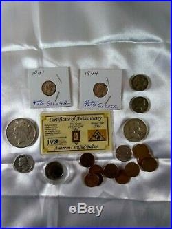 Junk drawer HUGE LOT Gold, Silver, US Silver Coins