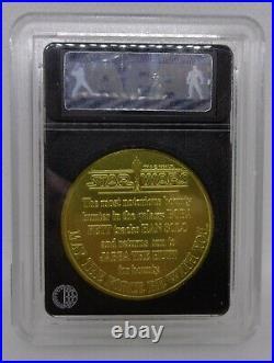 Kenner 1984 Star Wars AFA 95 BOBA FETT Gold Droids Coins PotF
