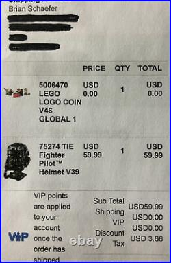 LEGO VIP Gold Coin 5006470 5th Collectible Coin 2021 Order Confirmed! SOLD OUT