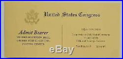 LOT OF 4 CIA OSS Congressional Gold Medal Ceremony Coin Medallion Ticket Program