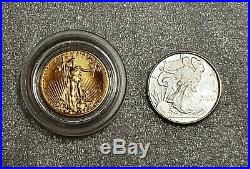 LOT of TWO 1/10 oz Gold Coin & Silver Round NICE Collectibles & Investment
