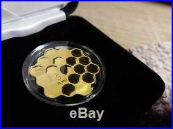 Latvian coin 2018 Honey coin Silver Coin Gold Plated Coin Collection Money