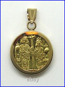 Leo the wise 22 Karat Gold Byzantine-type Coin Pendant Medal 17mm