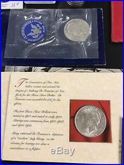 Lot 30 US Silver Gold Coin Collection Peace Morgan Ike American Eagle. 999 90%
