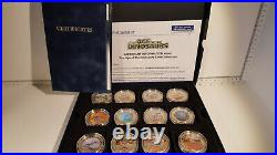 (Lot 601) The Age Of The Dinosaurs Full Coin Collection. Gold plated. 2318/ 4950