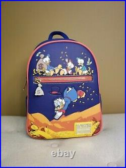 Loungefly Disney DuckTails Gold Coins Backpack and Cardholder Set NEW