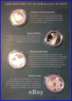 MACQUARIE MINT-1st & 2nd WORLD WARS-SILVER COMMEMORATIVE COLLECTION +GOLD COIN