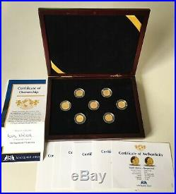 Macquarie Mint The Magnificent 7 Collection Gold coins