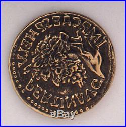 Marlen L. E. Aureus with Bronze Coin Fountain Pen Gold Nib Bronze, Celluloid