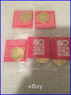 McDonalds 50 Years Of Big Mac Collector Coins MacCoin COMPLETE SETRAREMINT