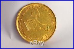 Mexico 8 Escudos 1861 ¨la Libertad En La Ley¨ Solid Gold Coin Collectible