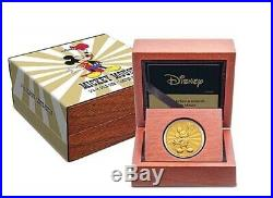 Mickey Mouse gold coin Disney minted 100 pcs