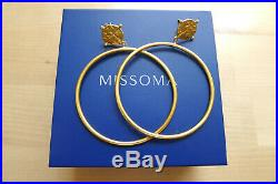 Missoma Lucy Williams 18k Roman Collection Gold Coin Chandelier Hoops NIB $167