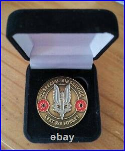 NEW MUST VIEW SAS Special Air Service John McAleese Gold plated Coin