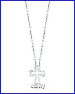 NEW Roberto Coin Tiny Treasures Diamond Small Cross Necklace 000732AWCHX0