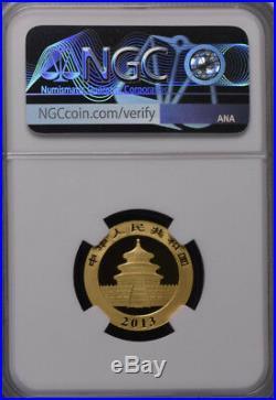 NGC MS70 2013 China Panda 1/4oz Gold Coin
