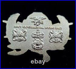 NSW Naval Special Warfare Seals Experimental Diving Unit Challenge Coin Gold v1