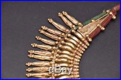 Naga mala Tribal Ethnic ceremonial Tharu tribe belly dance light gold old coin