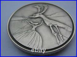 Naphtali From The 12 Tribes Of Israel Salvador Dali Pure Silver 3-oz. Coin+gold