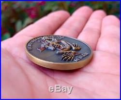 Navy Seal Team 6 DEVGRU NSW Gold Indian Skull Tribe Bone Frog Challenge Coin CPO