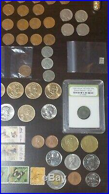 OLD US MIXED COIN LOT SILVER GOLD BULLION ESTATE COLLECTION 80 Merc Dimes + More