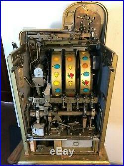 ORIGINAL 1940's 5¢ Mills Antique Slot Machine. It is the Golden Falls coin op