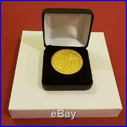 Official Donald Trump 2017 Inaugural Commemorative Pres 45 2-Sided Gold-P Coin
