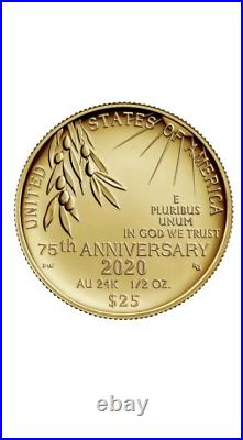 PRESALE End of World War II 75th Anniversary 24-Karat Gold Coin