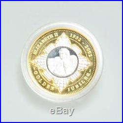 Perth Mint Elizabeth II Australia 20 Dollar 2002 Golden Jubilee Coin Gold/silver