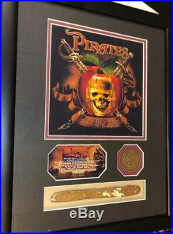 Pirates Of The Caribbean In The Big Apple Replica Gold From Ride & Coin Framed