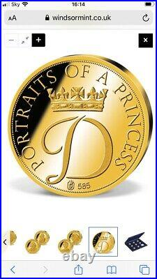 Portraits Of A Princess Diana Commemorative Gold Coin Collection Windsor Mint
