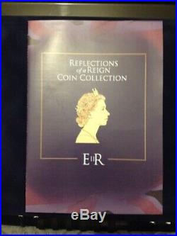Queen Elizabeth II Reflections On A Reign 24ct Gold Plated Enamel Coin Set