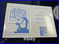 RARE Disney Fantasia 50th Ann. Silver and Gold Proof LTD 7-Coin Set withCOA