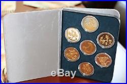 RARE Disney Fantasia 50th Ann. Silver and Gold Proof LTD 7-Coin Set with COA