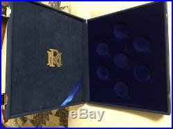 RARE Disney Fantasia 50th Anniversary Silver and Gold LTD 7-Coin Set withCOA